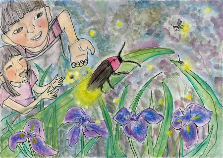 大賞作品 タイトル「大好きなおじいちゃんの庭」