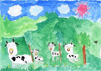 ぶっピィ賞 タイトル「牛がねる」